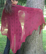 Red Rose Shawl